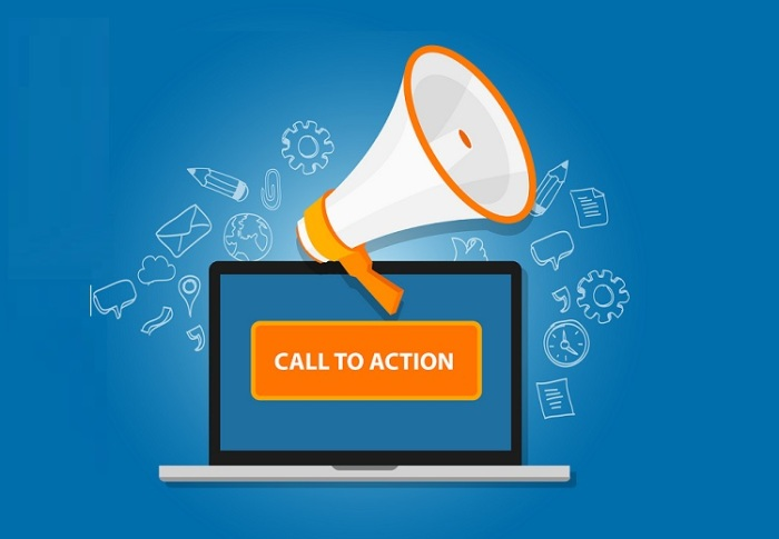 call to action button marketing online design page